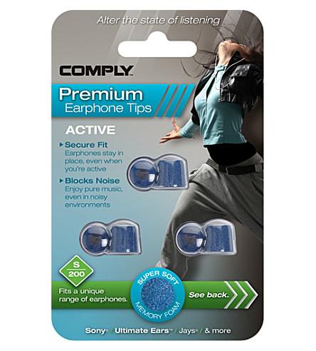 COMPLY S200 Active Premium Earphone Tips, three medium pairs