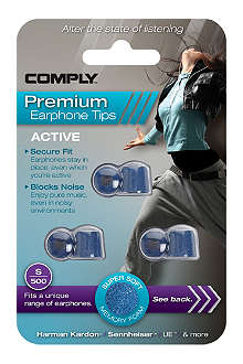 COMPLY S500 Active Premium Earphone Tips, three medium pairs