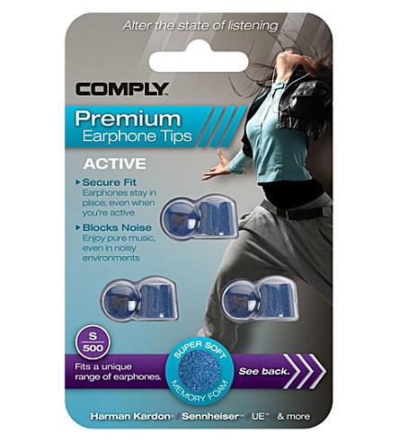 COMPLY S500 Active Premium Earphone Tips, three medium pairs