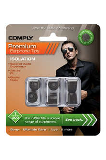 COMPLY T200 Isolation Premium Earphone tips, three medium pairs