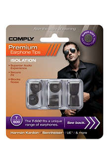 COMPLY T500 Isolation Premium Earphone tips, three medium pairs