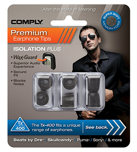 COMPLY Tx400 Isolation Plus Eartips, three medium pairs