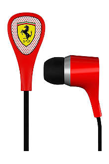FERRARI BY LOGIC3 Scuderia Ferrari S100i noise-isolating in-ear headphones