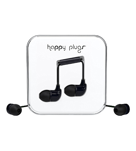 HAPPY PLUGS Black in-ear headphones