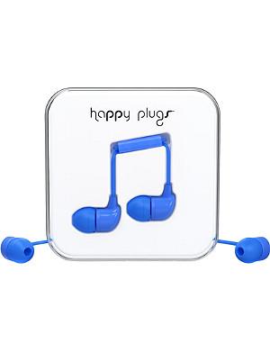 HAPPY PLUGS Blue in-ear headphones