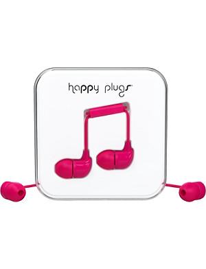 HAPPY PLUGS Cerise in-ear headphones