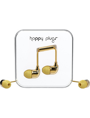HAPPY PLUGS Gold Deluxe Edition in-ear headphones