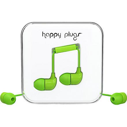 HAPPY PLUGS Green in-ear headphones