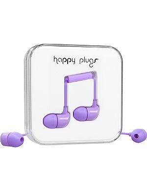 HAPPY PLUGS Lavender in-ear headphones