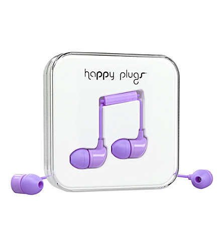 HAPPY PLUGS Lavender in-ear headphones