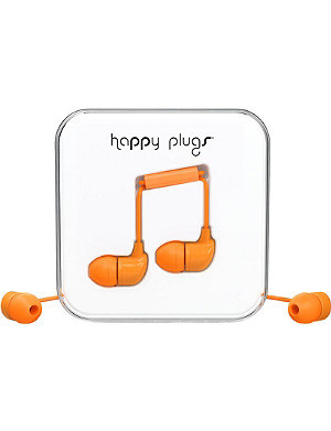 HAPPY PLUGS Orange in-ear headphones