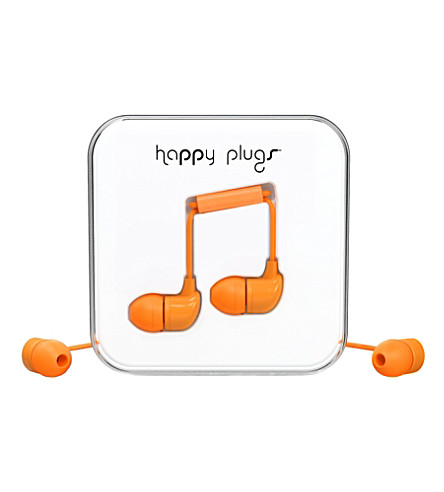 HAPPY PLUGS Orange in-ear headphones