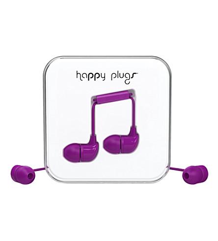 HAPPY PLUGS Purple in-ear headphones