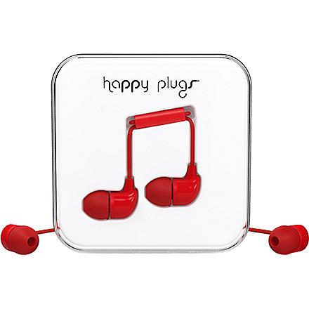 HAPPY PLUGS Red in-ear headphones