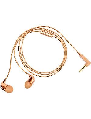 HAPPY PLUGS Rose-gold in-ear headphones