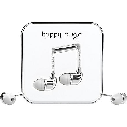HAPPY PLUGS Silver Deluxe Edition in-ear headphones