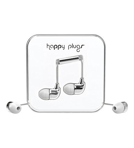 HAPPY PLUGS Silver Deluxe Edition in-ear headphones
