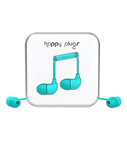 HAPPY PLUGS Turquoise in-ear headphones