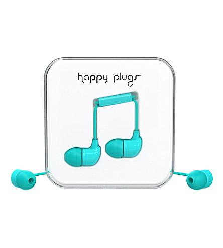 HAPPY PLUGS Turquoise in-ear headphones
