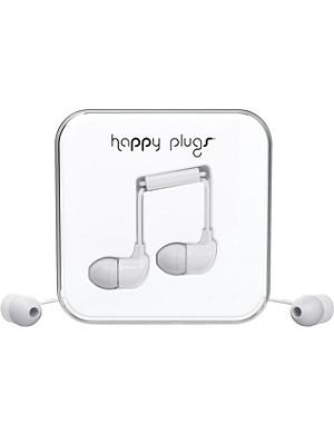 HAPPY PLUGS White in-ear headphones