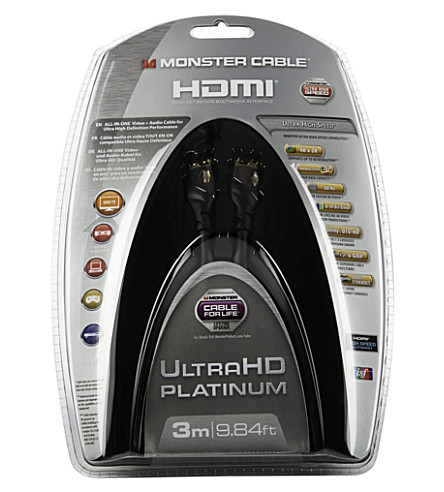 MONSTER Ultra HD Platinum 3m Ultra High Speed HDMI with Ethernet