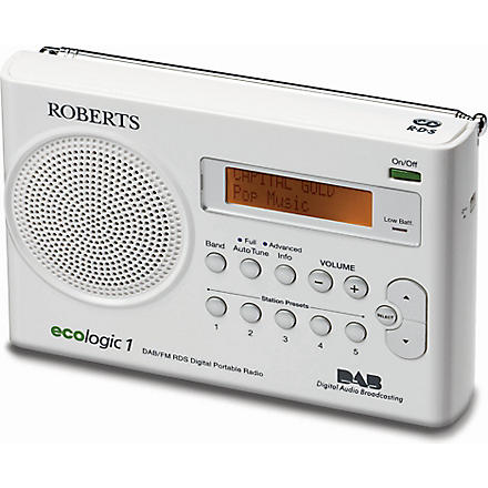 ROBERTS Ecologic 1 portable radio (White
