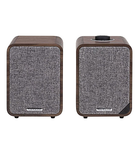 RUARK AUDIO MR1 MK.II active bluetooth speakers (Rich+walnut