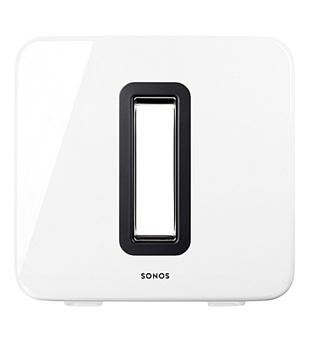 SONOS Wireless Subwoofer in gloss white