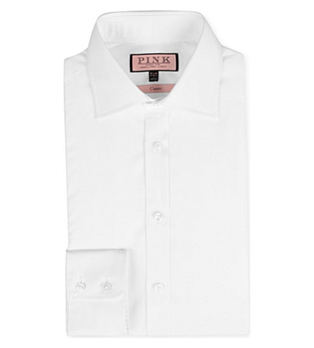 THOMAS PINK Edmond classic-fit single-cuff shirt (White