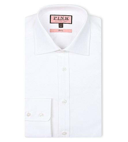 THOMAS PINK Royal Oxford classic-fit single-cuff shirt (White