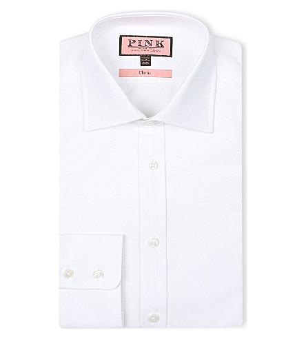 THOMAS PINK 皇家牛津经典-适合 single-cuff 衬衫 (白色