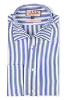 THOMAS PINK Ian striped classic-fit double-cuff shirt