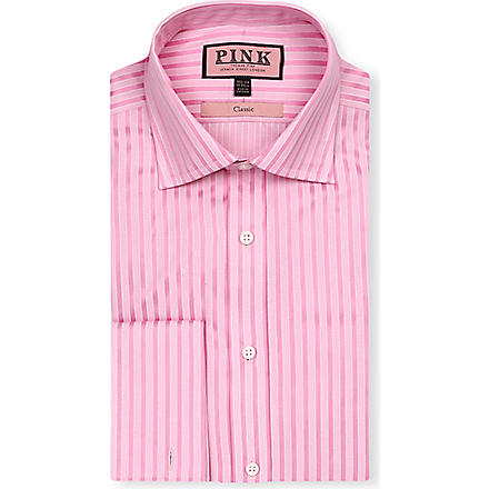 THOMAS PINK Mccartney classic-fit double-cuff shirt (Pink/pink
