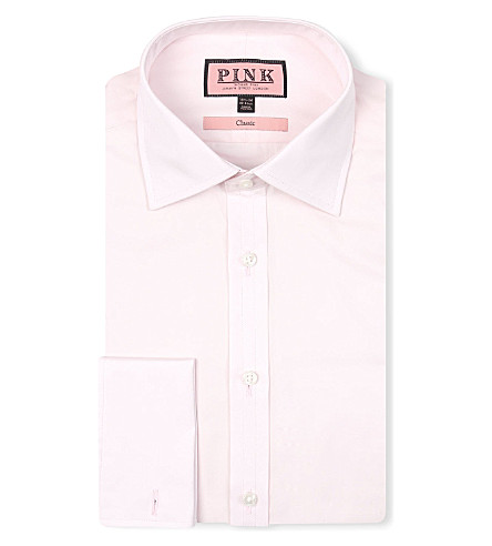 THOMAS PINK Classic-fit double-cuff shirt (Pink