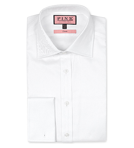 THOMAS PINK Bryant classic-fit double-cuff shirt (White
