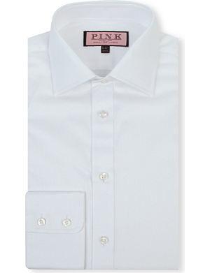 THOMAS PINK Classic-fit single-cuff cotton-twill shirt