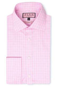 THOMAS PINK Lothian classic-fit double-cuff shirt