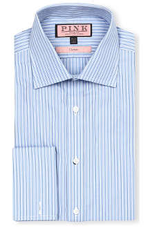 THOMAS PINK Allason classic-fit double-cuff shirt