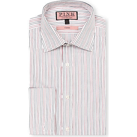 THOMAS PINK Cobbe classic-fit double-cuff shirt (White/red