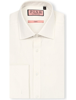 THOMAS PINK Edmond classic-fit double-cuff shirt