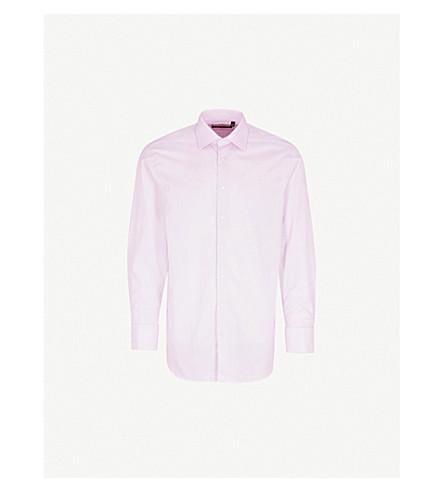 THOMAS PINK Oscar classic-fit cotton-blend shirt (Lilac