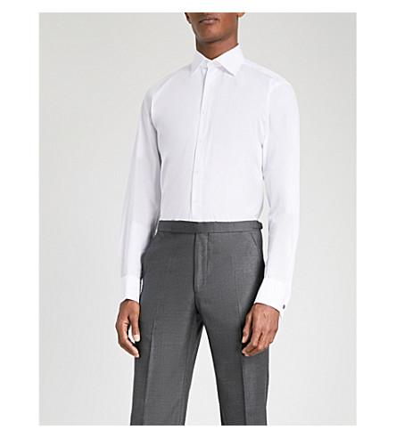 THOMAS PINK Oscar slim-fit cotton shirt (White