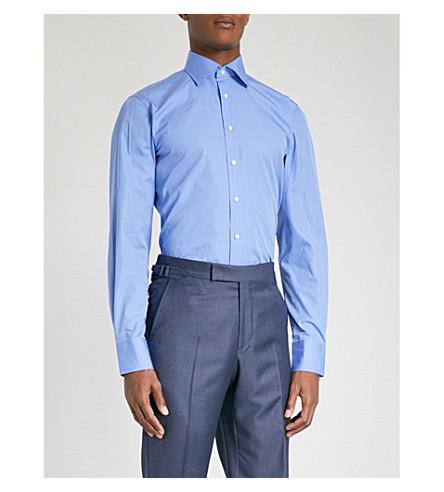 THOMAS PINK Frederick classic-fit cotton-poplin shirt (Blue