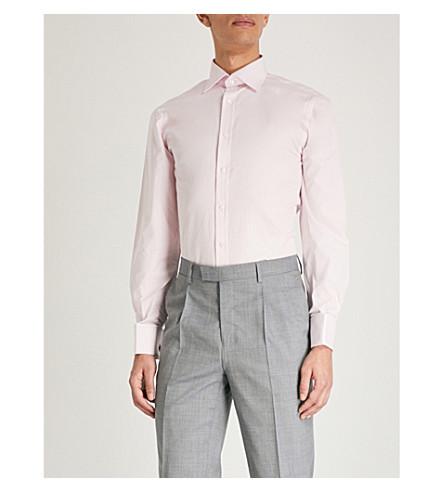 THOMAS PINK Frederick classic-fit cotton-poplin shirt (Pink