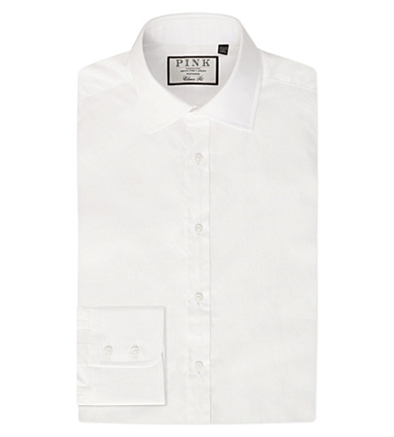THOMAS PINK Frederick classic-fit button-cuff cotton shirt (White