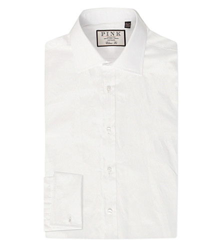 THOMAS PINK Frederick classic-fit double-cuff cotton shirt (White