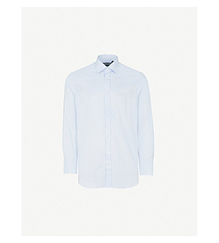 THOMAS PINK Arthur classic-fit cotton-twill shirt (Blue