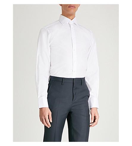 THOMAS PINK Arthur classic-fit cotton-twill shirt (White