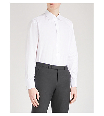 THOMAS PINK Arthur classic-fit cotton-twill shirt (White