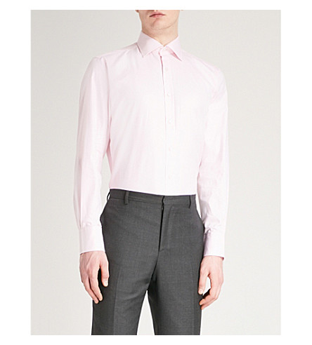 THOMAS PINK Arthur classic-fit cotton-twill shirt (Pink